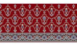 016 Kırmızı Saflı Cami Halısı