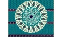 gobek-02-mavi Cami Halısı